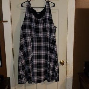 Torrid Black Plaid Skater Dress 3
